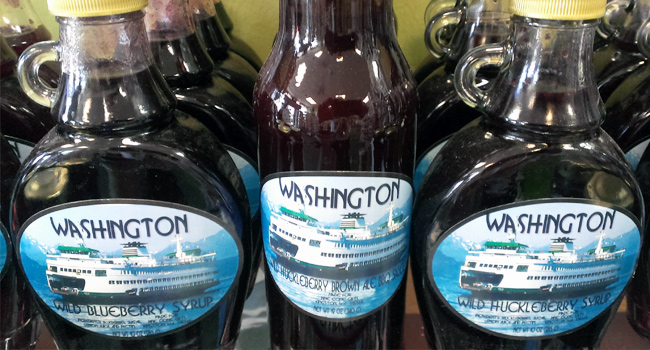 Washington Ferry Berry Syrups - Made Exclusively Clever Gift Shop