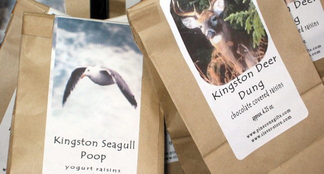 Kingston Seagull Poop & Deer Dung, Candy Coated Raisins