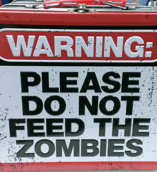Do Not Feed The Zombies Lunchbox