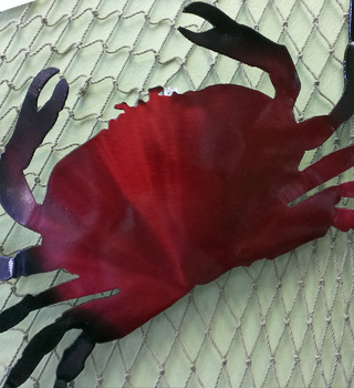 Indoor/Outdoor Metal Crab Wall Hanging